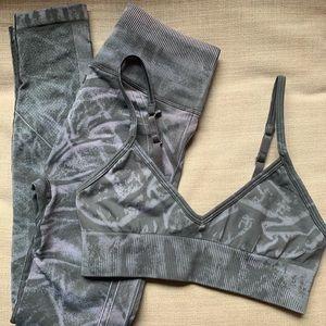 NWOT lululemon Ebb to Street Set (Stone Wash Graphite Grey)
